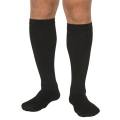 MON33653000 - Scott SpecialtiesDiabetic Compression Socks Over the Calf Medium Black Closed Toe