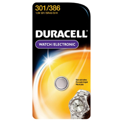 MON33869600 - Duracell - Duracell® Silver Oxide Battery 301/386 Cell 1.5V Disposable 1 Pack