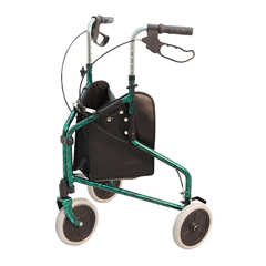 MON34023820 - Merits HealthRollator Green Aluminum, 2EA/BX