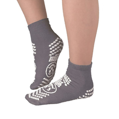 MON34181200 - PBESlipper Socks Pillow Paws Adult 2 X-Large Gray Ankle High