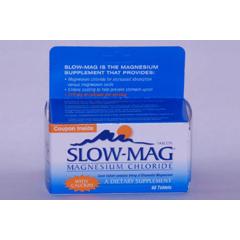 MON34182700 - Purdue PharmaMagnesium Chloride Supplement Slow-Mag® 71.5 gm Tablets, 60 per Bottle