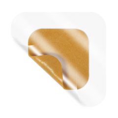 MON34212101 - Derma SciencesHoneycolloid Dressing MEDIHONEY® Honeycolloid® Adhesive Pad 3.5 X 3.5 Inch Square