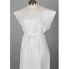 MON34301100 - McKessonExam Gown Large Tissue / Poly / Tissue White Adult, 50EA/CS