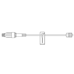 MON349478CS - B. Braun - Extension Set 8 Tubing 1 Port 0.61 mL Priming Volume DEHP-Free, 100 EA/CS