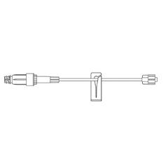 MON427406CS - B. Braun - Extension Set UltraSite® 8 Tubing 1 Port 0.61 mL Priming Volume DEHP-Free, 100 EA/CS
