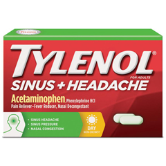 MON34582700 - Johnson & JohnsonTylenol® Sinus+ Headache Daytime Caplets, 24 per Bottle