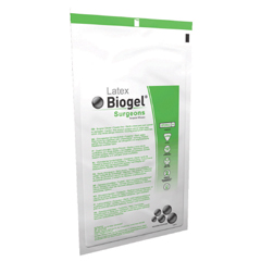 MON34651300 - Molnlycke HealthcareSurgical Glove Biogel® Sterile Latex Micro-Textured Straw Size 6.5, 50PR/BX