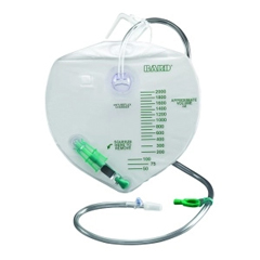 MON35041900 - Bard MedicalUrinary Drain Bag Anti-Reflux Valve 2000 mL Vinyl