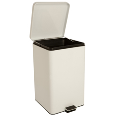 MON35267100 - McKessonStep On Trash Can with Plastic Liner entrust 32 Quart White Steel