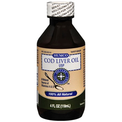 MON35402700 - HumcoCod Liver Oil Humco 5000 IU Strength Liquid 4 oz.