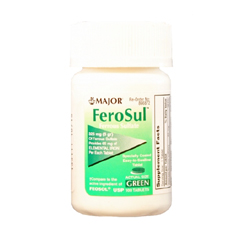 MON35412700 - Major PharmaceuticalsIron Supplement FeoSul 325 mg Strength Tablet 100 per Bottle