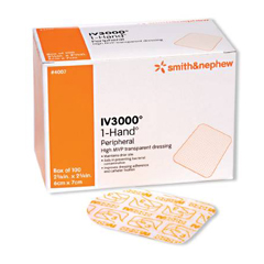 MON35512101 - Smith & NephewIV Dressing IV3000 1 Hand 4 x 4-3/4 Rectangle Film