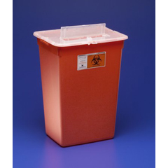 MON36652800 - MedtronicSharps-A-Gator™ Sharps Container, Slide Lid, Red, 10 Gallon