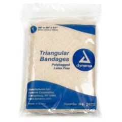 MON36722000 - Dynarex - Triangular Bandage Cotton 36 X 36 X 51 Inch, 12EA/BX