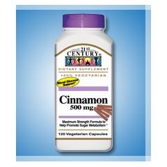 MON36802700 - 21st CenturyCinnamon Supplement 21st Century 500 mg Strength Capsule, 120 per Bottle