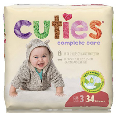 MON1102730BG - First Quality - Cuties Complete Care Diapers (CCC03), 34/BG