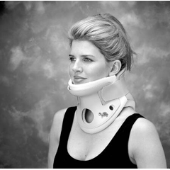 MON37533000 - DJORigid Cervical Collar Turtle Neck® Pre-Formed Foam Small, Tall Two Piece / Trachea Hole 5-1/4 Inch Height 10 to 12 Inch Circumference