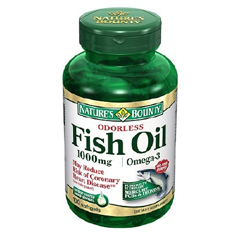 MON37572700 - US NutritionFish Oil Supplement Natures Bounty 1000 mg Strength Softgel 100 per Bottle