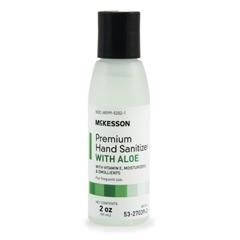 MON37921801 - McKessonPremium Hand Sanitizer with Aloe 2 oz. Ethanol Squeeze Bottle