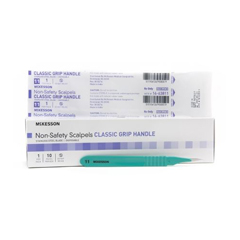 MON1029065BX - McKesson - Non-Safety Scalpel with Blade General Purpose Size 11 Stainless Steel Blade Disposable, 10 EA/BX