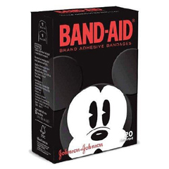 MON38172000 - Johnson & Johnson - Band-Aid® Plastic Adhesive Strips, Mickey Mouse Design, 20 EA/BX
