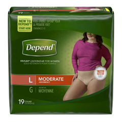 MON38363100 - Kimberly Clark ProfessionalDepend® Underwear for Women, Peach, Large, 76/CS