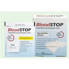 MON38422000 - Lifescience PLUS - Gauze Hemostatic Bloodstop 10/BX