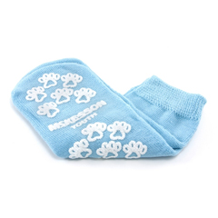 MON38491200 - McKessonSlipper Socks Light Blue Above the Ankle