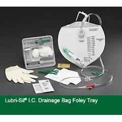 MON38491900 - Bard MedicalIndwelling Catheter Tray Lubri-Sil 2-Way Foley 16 Fr. 5 cc Balloon Hydrogel Coated Silicone