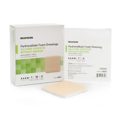 MON38622100 - McKesson - Silicone Foam Dressing (4863), 10/BX