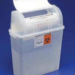 MON38972800 - MedtronicSharps-A-Gator™ Sharps Container, Tortuous Path, Clear, 5 Quart