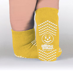 MON39071002 - PBESlipper Socks Pillow Paws® Bariatric 3 X-Large Yellow Ankle High
