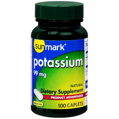MON1111275BT - McKesson - Dietary Supplement sunmark Potassium Gluconate 99 mg Strength Tablet 100 per Bottle, 100 EA/BT