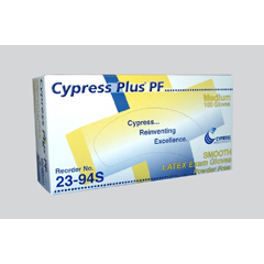 MON39221300 - CypressExam Glove Cypress Plus® PF NonSterile Powder Free Latex Smooth Ivory Small Ambidextrous, 100EA/BX