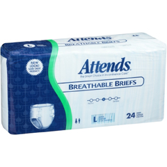 MON39603124 - AttendsAttends® Briefs (BRB3096), Large, 24 EA/BG