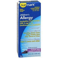 MON39832700 - McKessonChildrens Allergy Relief sunmark® 5 mg /5 mL Oral Solution 4 oz.