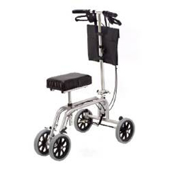 MON40003800 - Essential - Knee and Leg Folding Walker Adjustable Height Free Spirit® Aluminum 400 Lbs