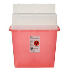 MON40102800 - MedtronicSharps-A-Gator™ Sharps Container, Tortuous Path, Transparent Red, 5 Quart