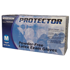 MON40121300 - McKessonPROTECTOR NS Latex Textured Fingertips Ivory Contains Latex Medium, 100EA/BX