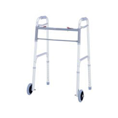 MON40123800 - Merits HealthFolding Walker Adjustable Height Deluxe Aluminum 300 Lbs, 4EA/BX