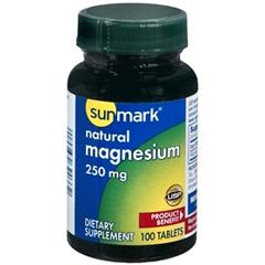 MON40152700 - McKessonsunmark® Magnesium Dietary Supplement 250 mg Tablets, 100 per Bottle