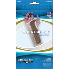 MON40393000 - Scott Specialties - Wrist Brace Sport-Aid® Removable Palm Stay Left Hand Beige Large