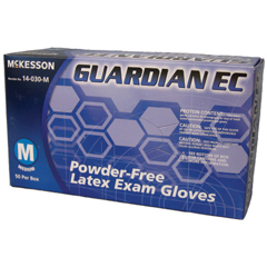 MON40511300 - McKessonExam Glove GUARDIAN® EC NonSterile Powder Free Latex Textured Fingertips Blue X-Large Ambidextrous, 50EA/BX