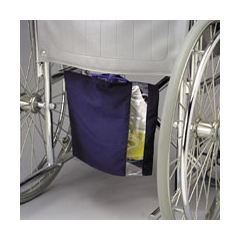MON40571900 - PoseyUrinary Bag Cover Vinyl, Canvas, Navy Blue, Window