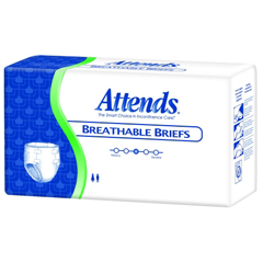 MON40963104 - AttendsIncontinent Brief Attends Tab Closure X-Large Disposable Heavy Absorbency