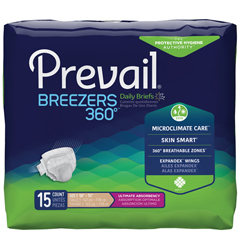 MON41043100 - First QualityPrevail® Breezers 360° Briefs - Size 3, 60/CS