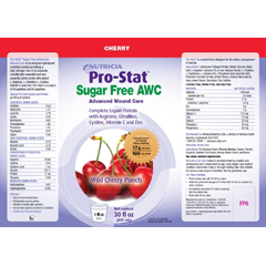 MON41302600 - Medical Nutrition USAProtein Supplement Pro-Stat® Sugar Free AWC Wild Cherry 30 oz., 4EA/CS