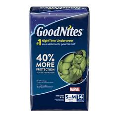 MON41313100 - Kimberly Clark ProfessionalGoodNites® Pull On Absorbent Underpants for Boys, Spiderman, Small/Medium, 56/CS