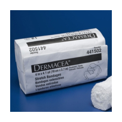 MON41502008 - MedtronicConforming Stretch Bandage Dermacea Cotton / Polyester 4 x 4 Yard