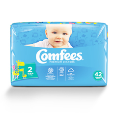 MON41583100 - AttendsBaby Diaper Comfees Tab Closure Size 2 Disposable